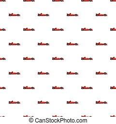 Sport car side view pattern