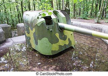 estación, artillería