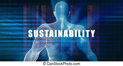 Sustainability as a Futuristic Concept Abstract Background