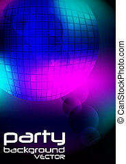 Party Background - Disco BallOn Dark Multicolor Background /...