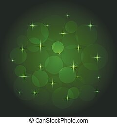 Abstract background with bokeh green