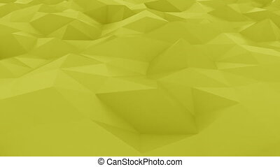 Glossy polygonal yellow surface. Loopable hi-tech motion...