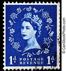 Queen Elizabeth II - UNITED KINGDOM - CIRCA 1970: An English...