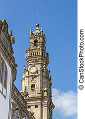 Tower of the Igreja dos Clerigos in Porto