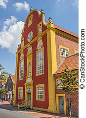Front of the Gymnasialkirche church in Meppen, Germany