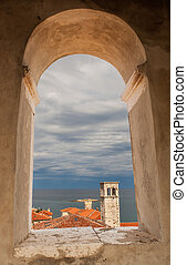 Old tower, Porec - View from the town tower from the...