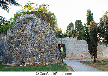 Bullwarks mediaevals, Porec - View of the Bullwarks...