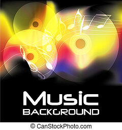 Burning Music Background - Abstract Music Background -...