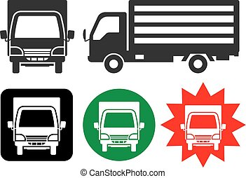 truck of silhouette - front and side -