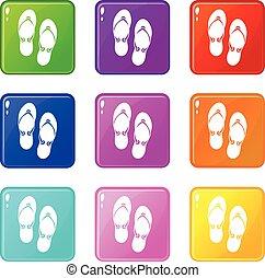 Flip flop sandals set 9