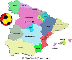 Spain football vector illustration