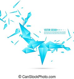 Abstract background with dynamic fragments. - Abstract...