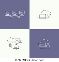 Abstract background with a network server.