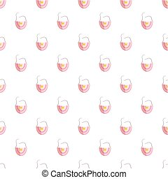 Bib pattern seamless repeat in cartoon style vector...