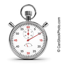 stopwatch - Stopwatch. 3d image. Isolated white background....