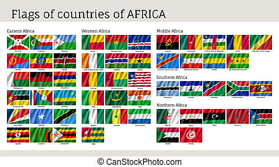 非洲, 集合, 旗, 大