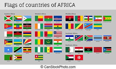 大, 旗, 集合,  African, 國家