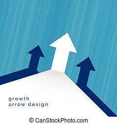 arrow moving upward business concept design