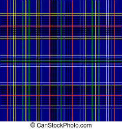 Tartan Texture - Illustration - Seamless Blue Tartan Fabric...
