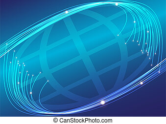 Optical Fibers - Abstract Background - Optical Fiberws and...