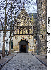Entrance to the church of Our Lady in Maastricht, Holland