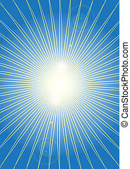 Sun Rays - Abstract Background - Sun Rays on Blue Gradient...