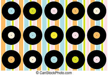 Vintage Vinyl Record Wallpaper - Abstract Wallpaper -...