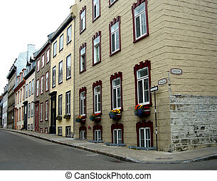 Street in old Quebec, Canada