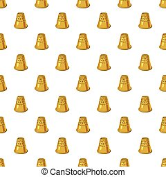 Thimble pattern seamless repeat in cartoon style vector...