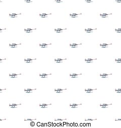 Hydroplane pattern seamless repeat in cartoon style vector...