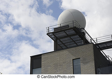 meteorological station on a background of a cloudy sky -...