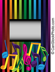 Music Background - Multicolor Background on Streaky...
