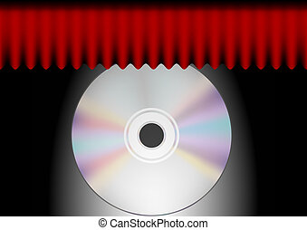 CD and Red Curtain
