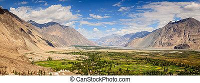 Nubra Valley - Panoramin view of Nubra Vally in Ladakh...