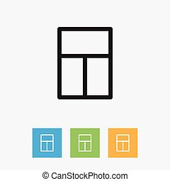 Vector Illustration Of Kin Symbol On Windows Outline....