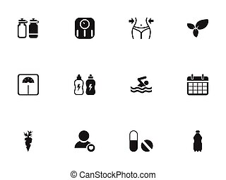 Set Of 12 Editable Sport Icons. Includes Symbols Such As Pill, Swimming, Energetic Beverage And More. Can Be Used For Web, Mobile, UI And Infographic Design.