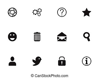 Set Of 12 Editable Internet Icons. Includes Symbols Such As Dove, Magnifier, Profile And More. Can Be Used For Web, Mobile, UI And Infographic Design.