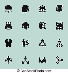Set Of 16 Editable Cooperation Icons. Includes Symbols Such As Agreement, Corporate, Leader And More. Can Be Used For Web, Mobile, UI And Infographic Design.