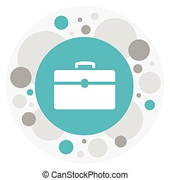 Vector Illustration Of Kin Symbol On Case Icon. Premium Quality Isolated Portfolio Element In Trendy Flat Style.