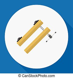 Vector Illustration Of Tools Symbol On Clinch Flat Icon. Premium Quality Isolated Clamp Element In Trendy Flat Style.