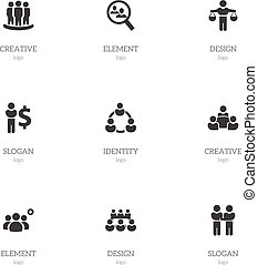 Set Of 9 Editable Cooperation Icons. Includes Symbols Such As Teamwork, Partnership, Agreement And More. Can Be Used For Web, Mobile, UI And Infographic Design.