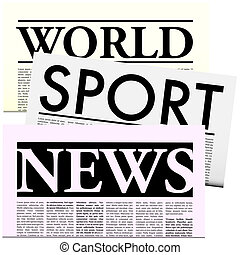Newspapers with Lorem Ipsum Copy - World Sport News Vector