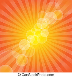 Hot Summer Background / Vector - Summer Background - Yellow...