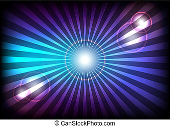 Light Rays - Abstract Background - Blue and Violet Rays of...