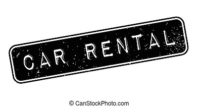 Car Rental rubber stamp. Grunge design with dust scratches....