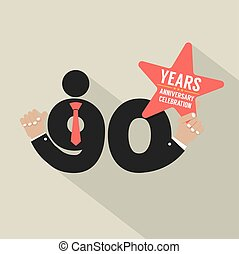 90 Years Anniversary Typography Design Vector Illustration