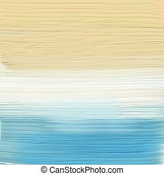 painted abstract beach landscape 1007