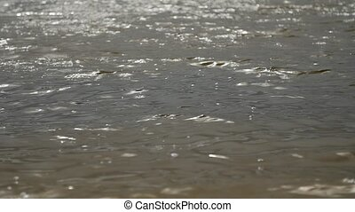 Water ripples surface. - Lake water wavy surface, water...