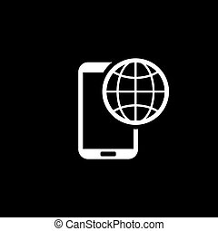 International Roaming Icon. Flat Design. Mobile Devices and...