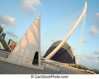 agora and one end of the puente d'assut d'or in valencia in...
